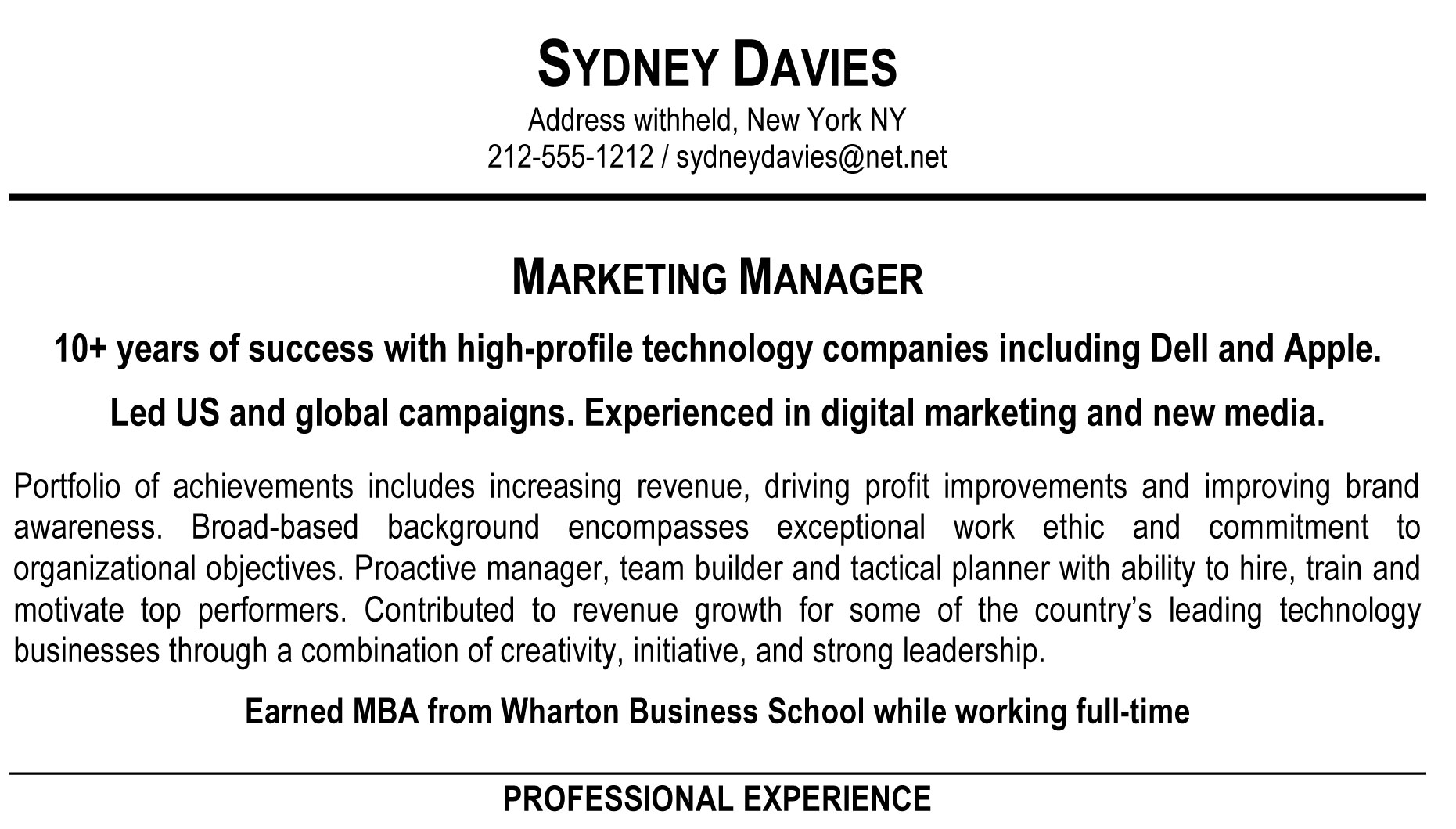 Thatu0027s ...  Good Resume Profile