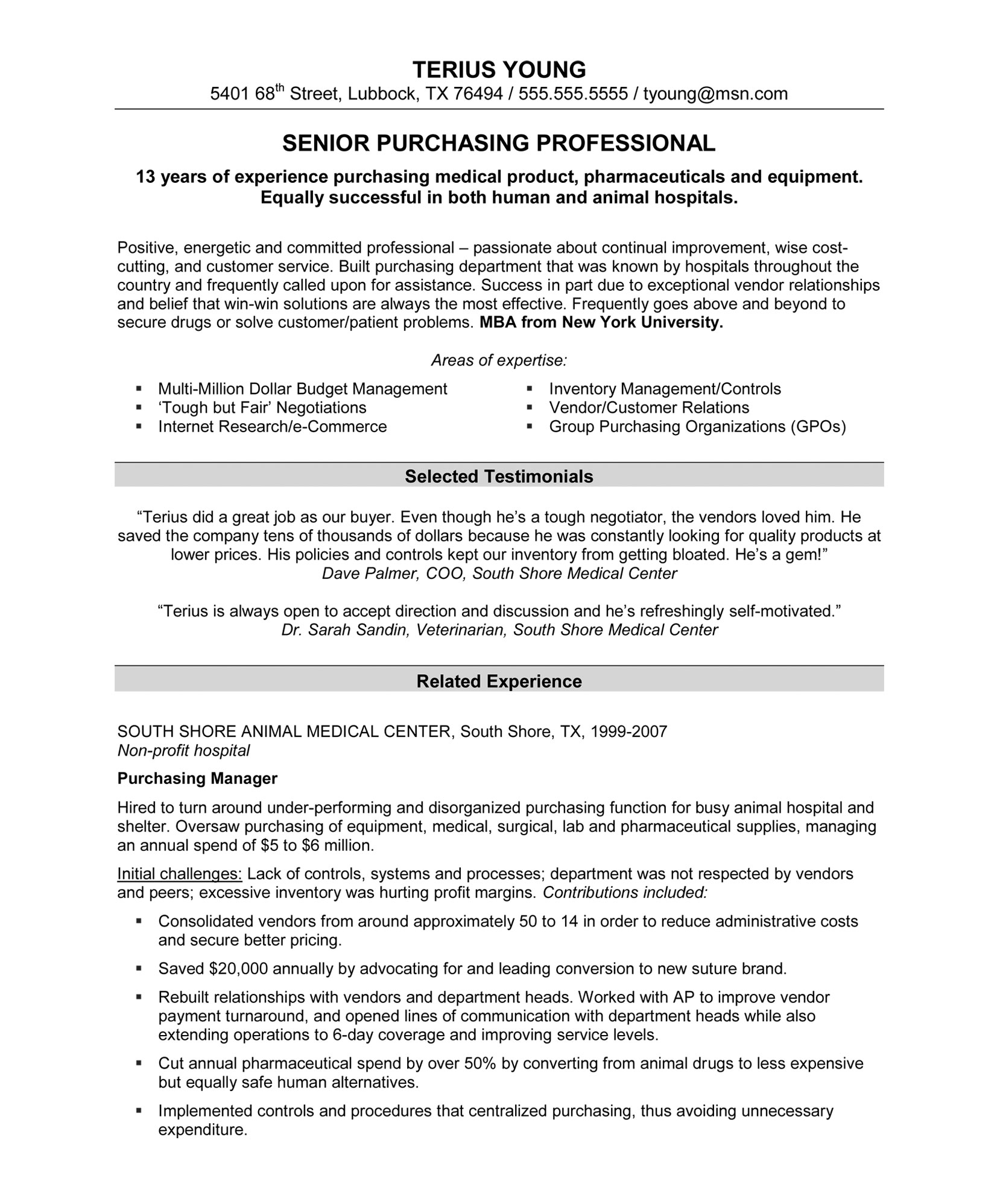 Resume revised professional