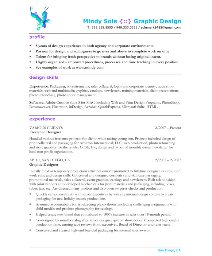 old version old version old version - Sample Graphic Design Resume