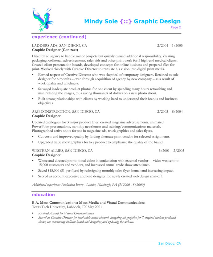 old version old version old version - Graphic Artist Resume Sample