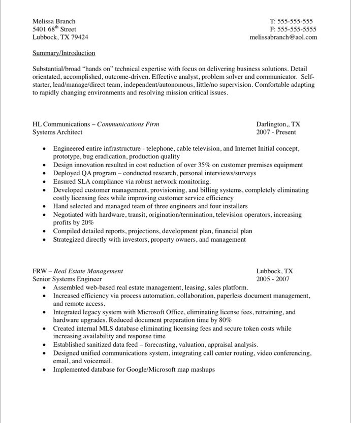 Technology Teacher Resume Sample  Technical Resumes