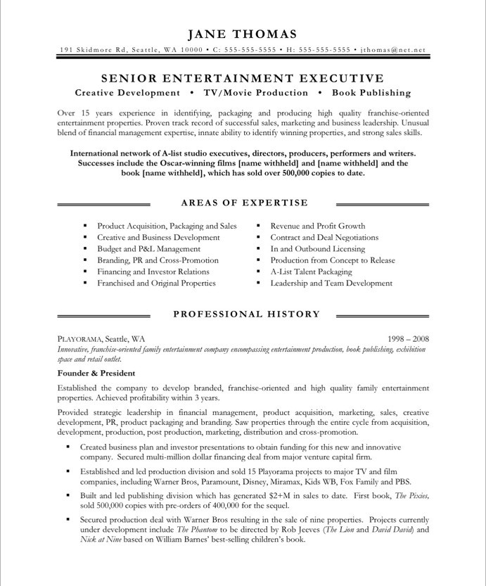 resume sample for retired person