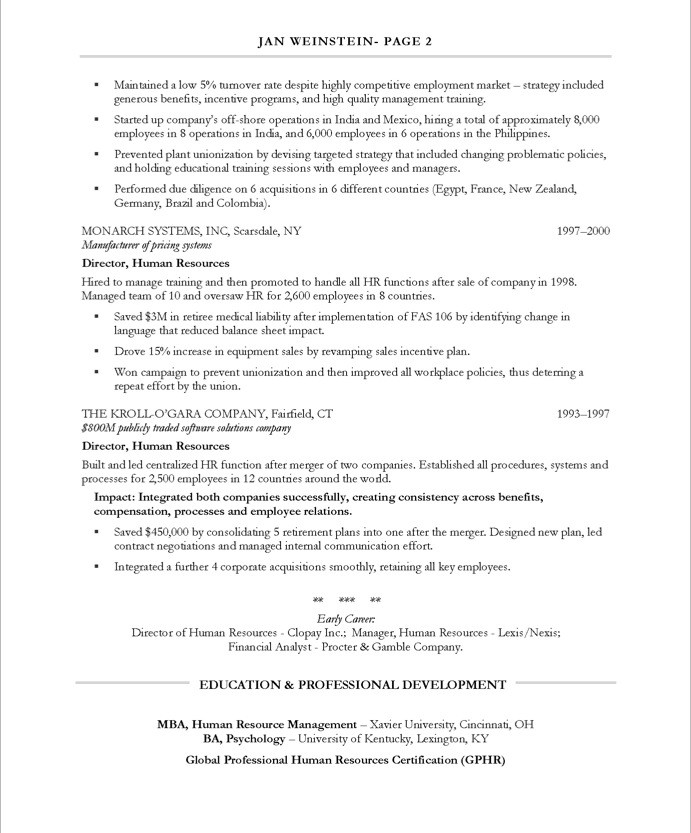 old version old version old version - Hr Resume Sample