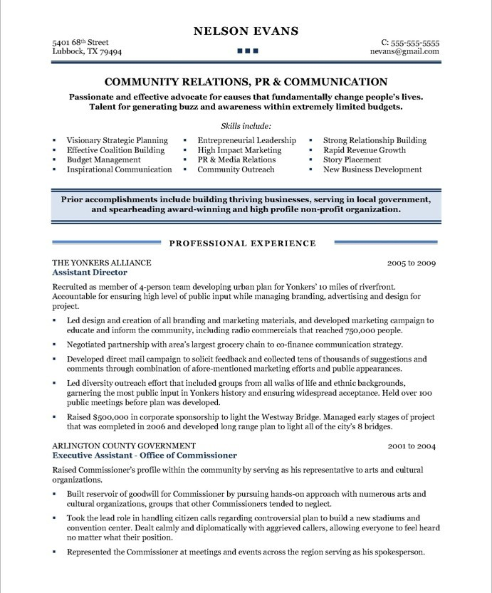 Resume Resume Sample Relationship Manager community relations manager free resume samples blue sky resumes old version version