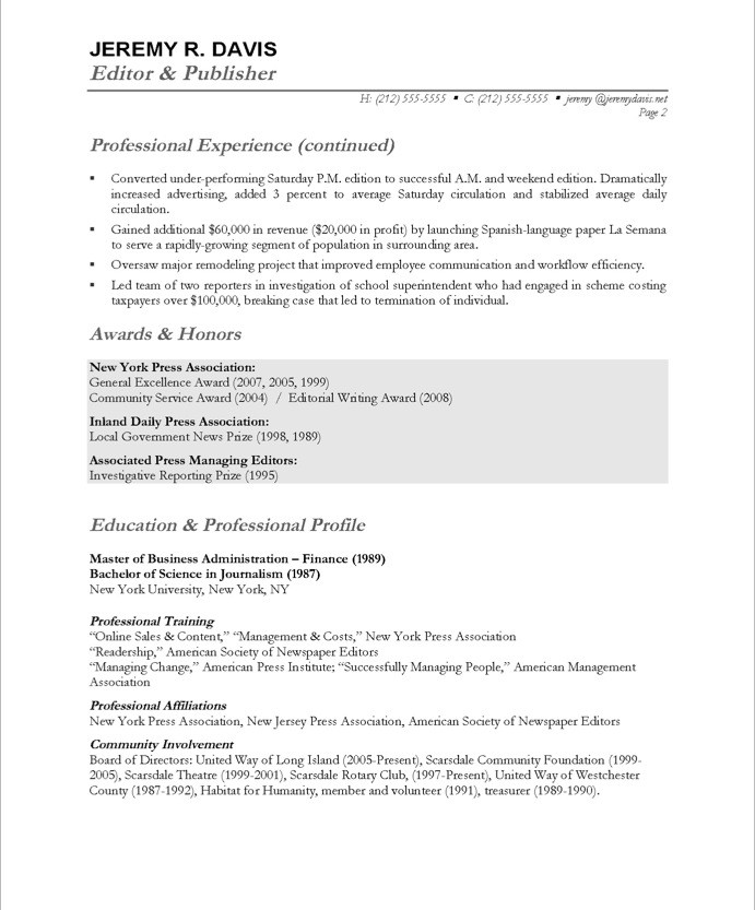 managing editor resume Idealvistalistco
