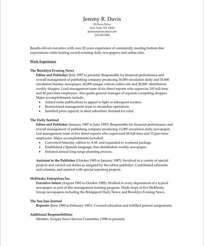 Old Version ...  Resume Editor