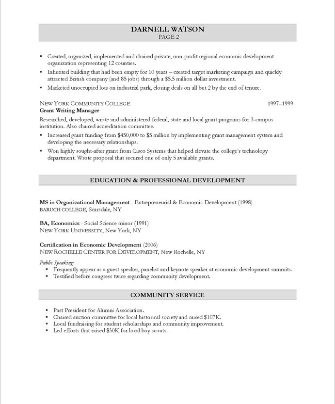 Community Development Executive Free Resume Samples Blue Sky Resumes