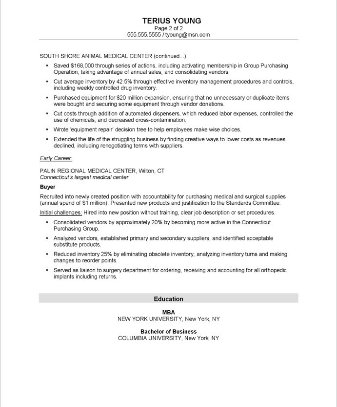 purchasing manager free resume sles blue sky resumes