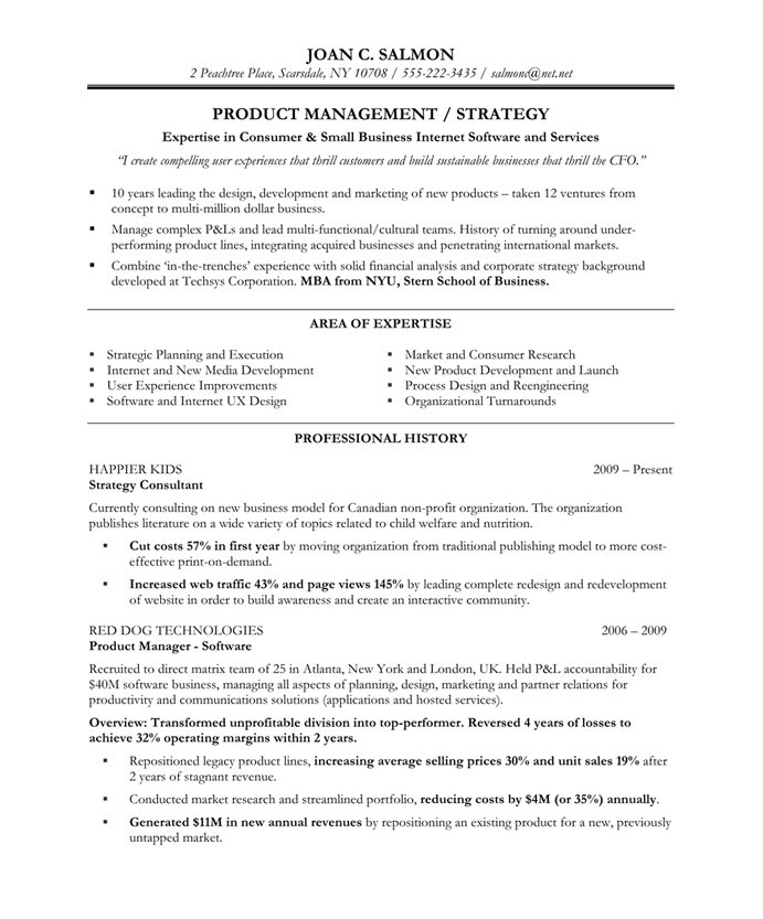 people manager resumes product - Product Line Manager Resume Sample