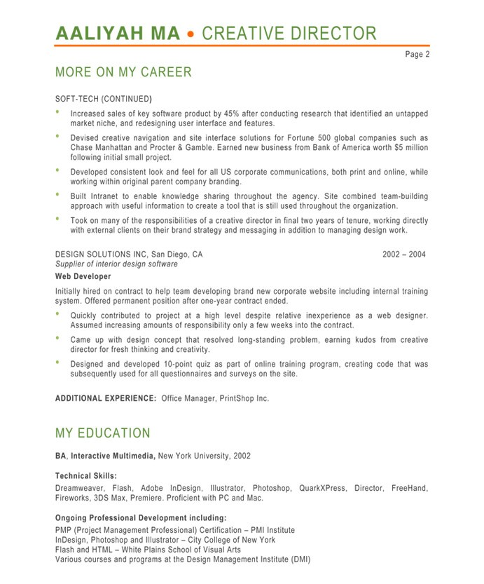 Superior Old Version Old Version Within Creative Director Resume Samples