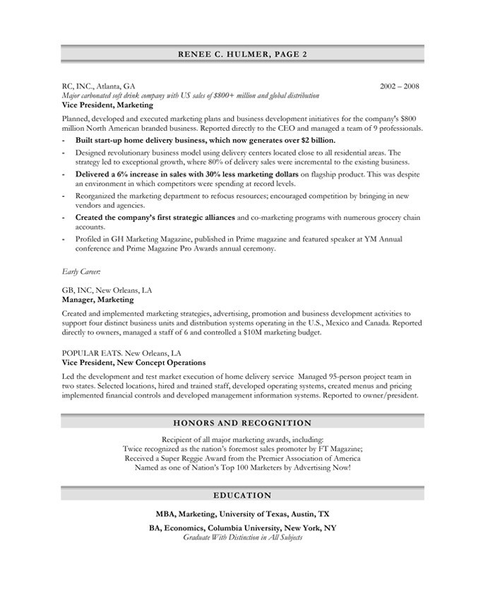 Marketing Executive | Free Resume Samples | Blue Sky Resumes