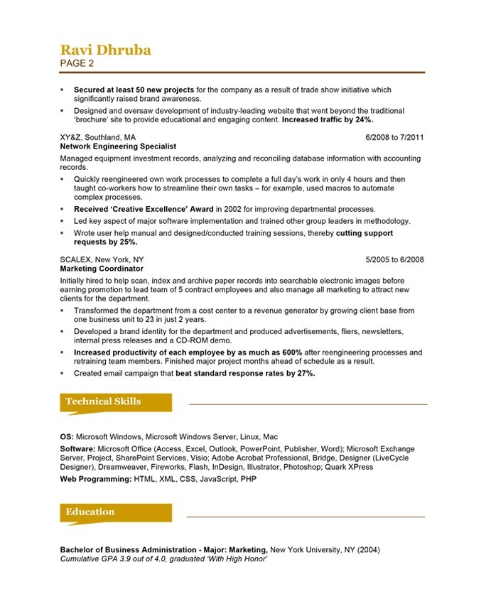 Social Skills Examples For Resume - Template